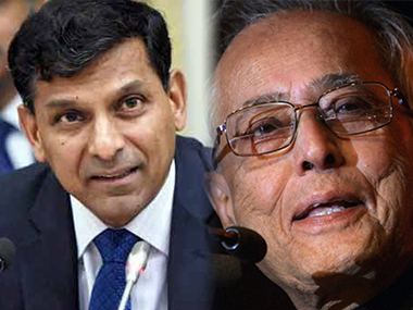 File photo of Raghuram Rajan and Pranab Mukherjee. Image courtesy: PTI and IBNlive
