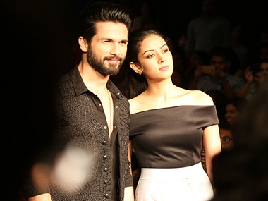 Shahid Kapoor and Mira Rajput. Image from News 18