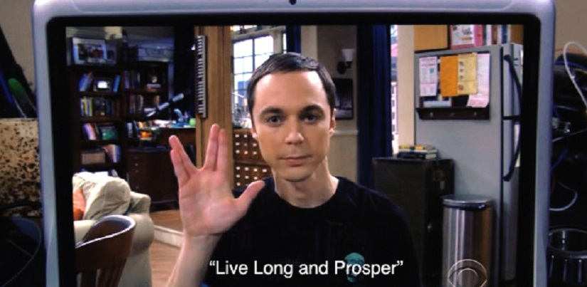 Sheldon loves Star Trek. Image Courtesy: Tumblr.