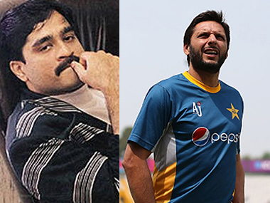 Dawood Ibrahim and Shahid Afridi. Image courtesy: News18.