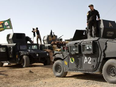 Iraqi special forces soldiers deployed for an offensive to retake Mosul. AP