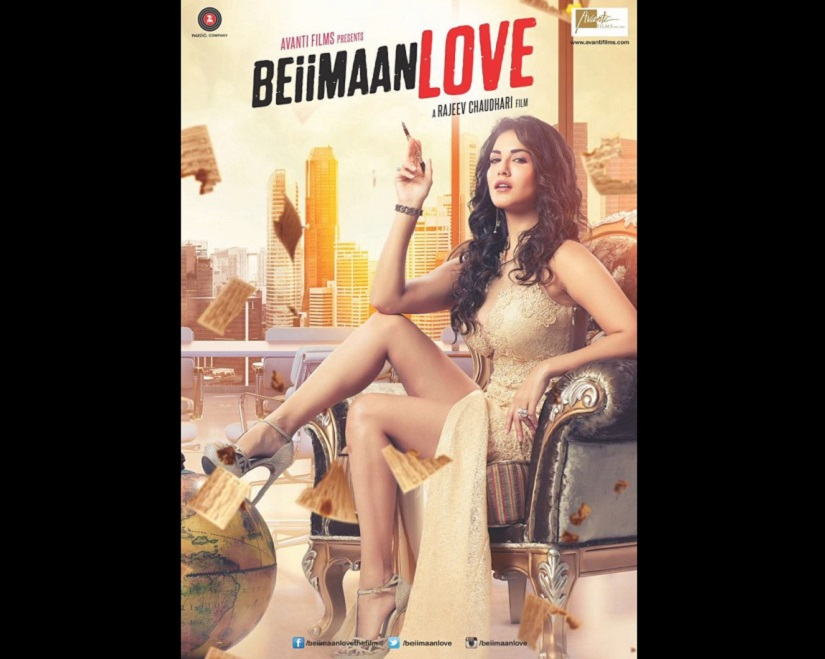 Sunny Leone in the poster for 'Beimaan Love'