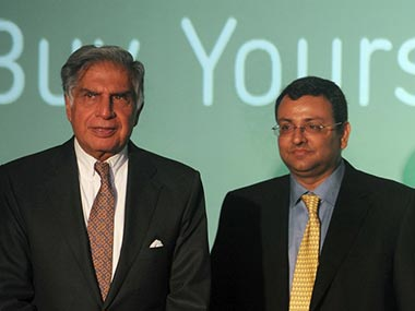 Ratan Tata and Cyrus Mistry. AFP file photo