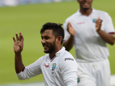 Bishoo's eight wickets ensured Pakistan couldn't achieve a mammoth lead. AFP