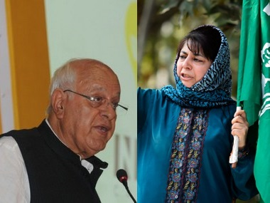 Farooq Abdullah and Jammu and Kashmir Chief Minister Mehbooba Mufti