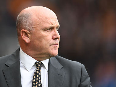 File photo of Hull City manager Mike Phelan. Getty Images