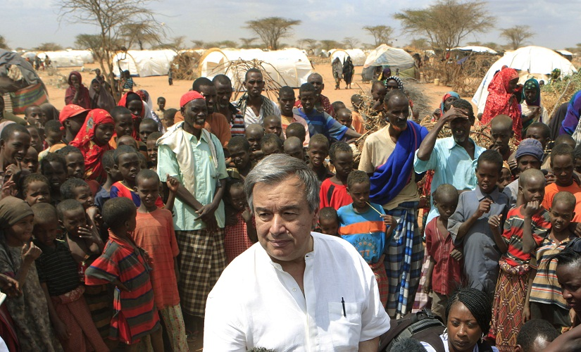 A file photo of Antonio Guterres as the UN High Commissioner for Refugees in Kenya. AP