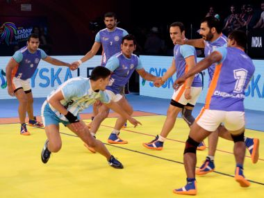 India's win over Argentina was the biggest margin of victory at Kabaddi World Cup. Image Courtesy: Pro Kabaddi Facebook