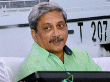 File image of union minister Manohar Parrikar. PTI