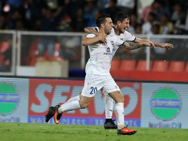 Matias Defederico scored the only goal on the night as Mumbai City FC beat FC Pune City in the Maharashtra derby. Twitter@IndSuperLeague