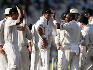 The New Zealand players are training for the third Test as per schedule. AP
