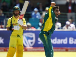 Tabraiz Shamsi and Matthew Wade received fines for their spat. AFP