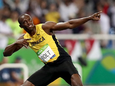 RIO DE JANEIRO, BRAZIL - AUGUST 18: Usain Bolt of Jamaica celebrates winning the Men's 200m Final on Day 13 of the Rio 2016 Olympic Games at the Olympic Stadium on August 18, 2016 in Rio de Janeiro, Brazil. (Photo by Ezra Shaw/Getty Images)
