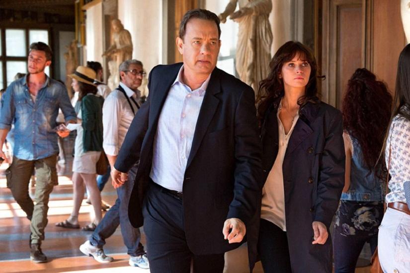 Tom Hanks and Felicity Jones in a still from 'Inferno'