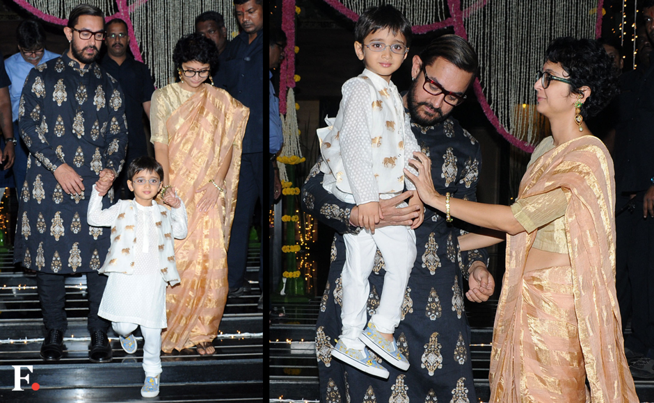 Aamir Khan with Kiran Rao and song Azad. Sachin Gokhale/Firstpost
