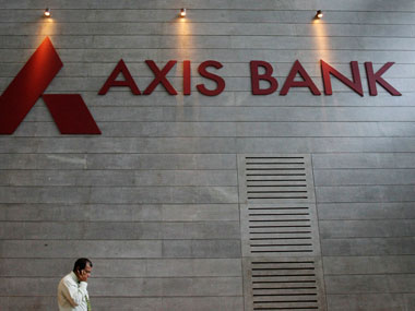 Axis Bank logo. Reuters