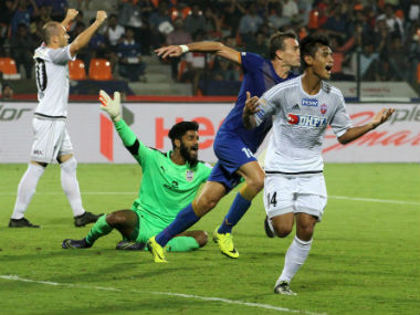 FC Pune City slipped to the sixth spot as a result of their latest defeat. Photo courtesy: FC Pune City official Twitter handle.