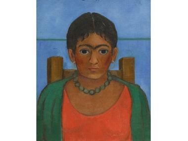 A screen grab of Frida Kahlo's painting Nina Con Collar. Image courtesy: Sothebys