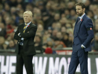 Gordon Strachan and Gareth Southgate, Scotland and England managers respectively. AP