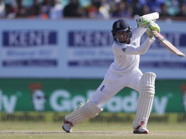 England's Haseeb Hameed during the Rajkot Test. AP