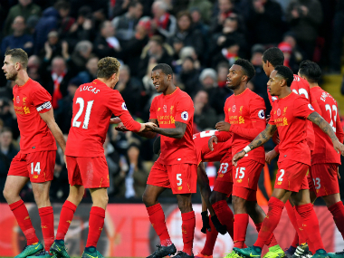 File image of the Liverpool players. AP