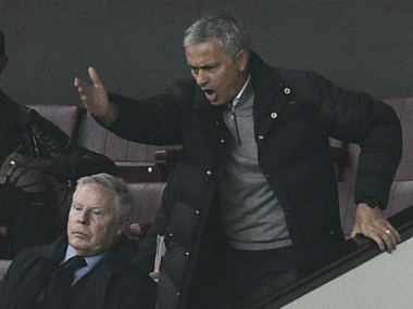 Mourinho was sent to the stands during Manchester United's clash vs Burnley due to his rash behaviour. AFP