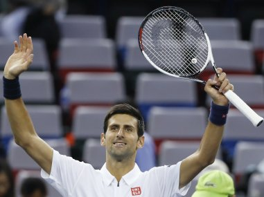 File photo of Novak Djokovic. AP