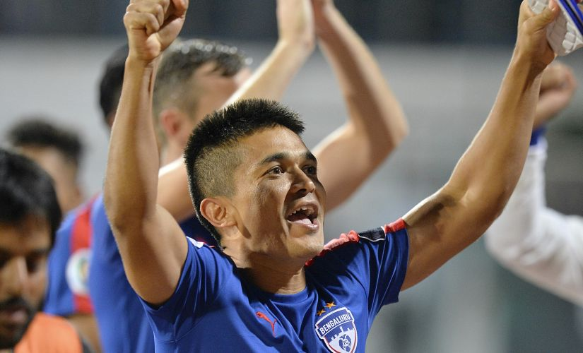 Sunil Chhetri will be key to Bengaluru FC's chances in the 2016 AFC Cup final. AFP