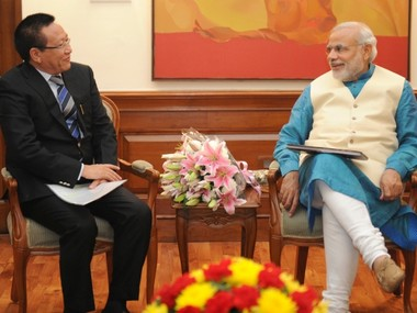 Nagaland Chief Minister TR Zeliang with Prime Minister Narendra Modi. Image courtesy: Wikimedia Commons