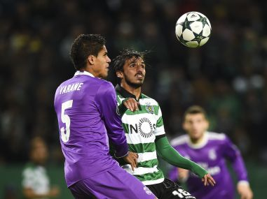 File photo of Raphael Varane in action. AFP