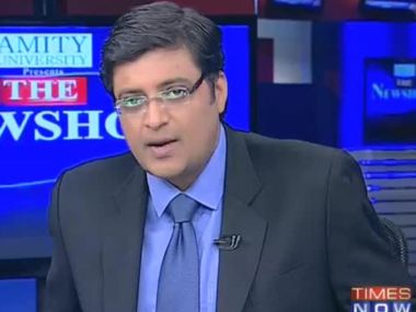 Arnab Goswami. Photo courtesy: Twitter