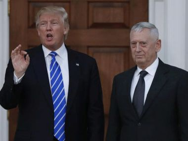 File image of Donald Trump and James Mattis. AP
