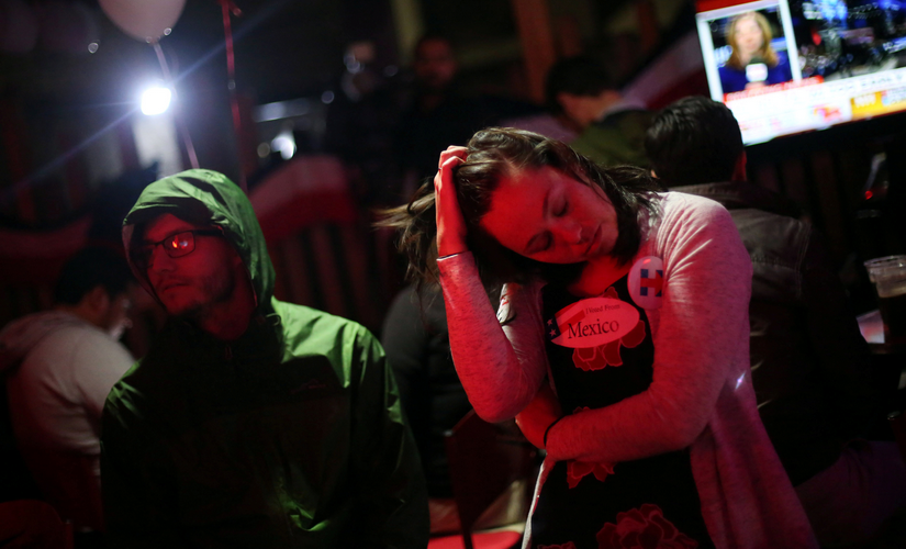 Mexicans after the US election result was declared. Reuterss