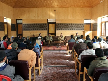 The counselling session held by the Baramulla Police. Firstpost/Sameer Yasir