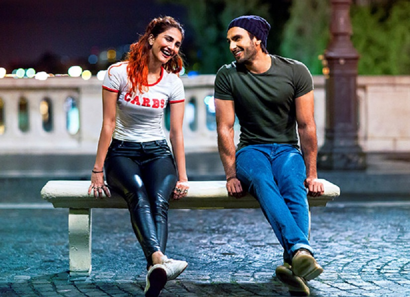 Vaani Kapoor and Ranveer Singh in a still from 'Befikre'