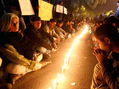 File image of protests in Delhi following the rape of Jyoti Singh in 2012. PTI