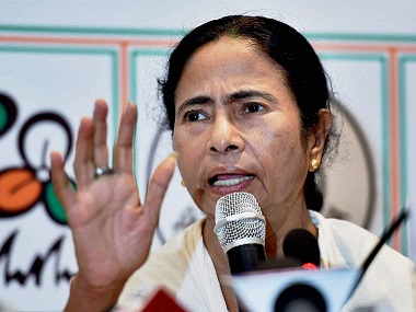File photo of West Bengal Chief Minister and TMC Supremo Mamata Banerjee addresses media after her party's win in the Assembly elections at her Kalighat residence in Kolkata on Thursday. PTI Photo by Swapan Mahapatra(PTI5_19_2016_000262B)