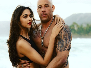 Deepika with Vin Diesel