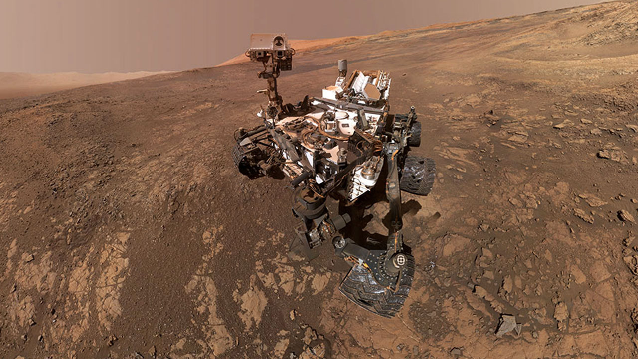 The Curiosity rover on Mars in early June, 2018. Image courtesy: NASA