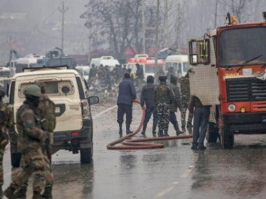 At least 40 CRPF jawans were killed and dozens other injured when a CRPF convoy was attacked on 14 Feb. PTI