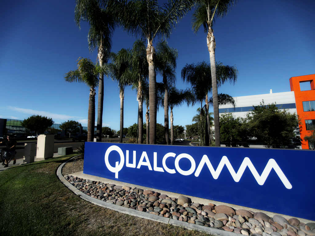 A sign on the Qualcomm campus. Reuters