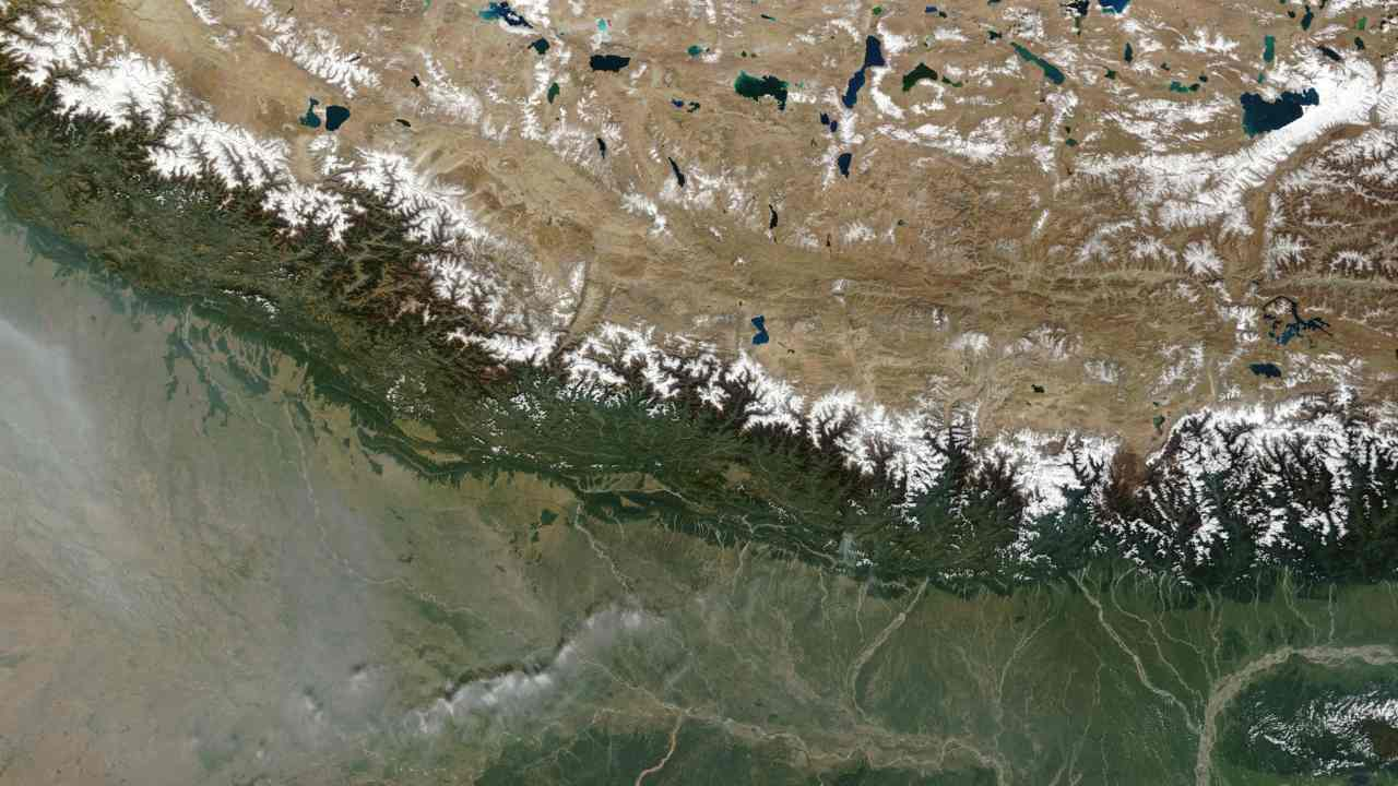 The Himalayas, often considered the 'Third Pole' is both vulnerable and a global hotspot for biodiversity. But the Nepal government appears not to have learnt anything new towards conserving the ecosystems, experts say. Image: NASA