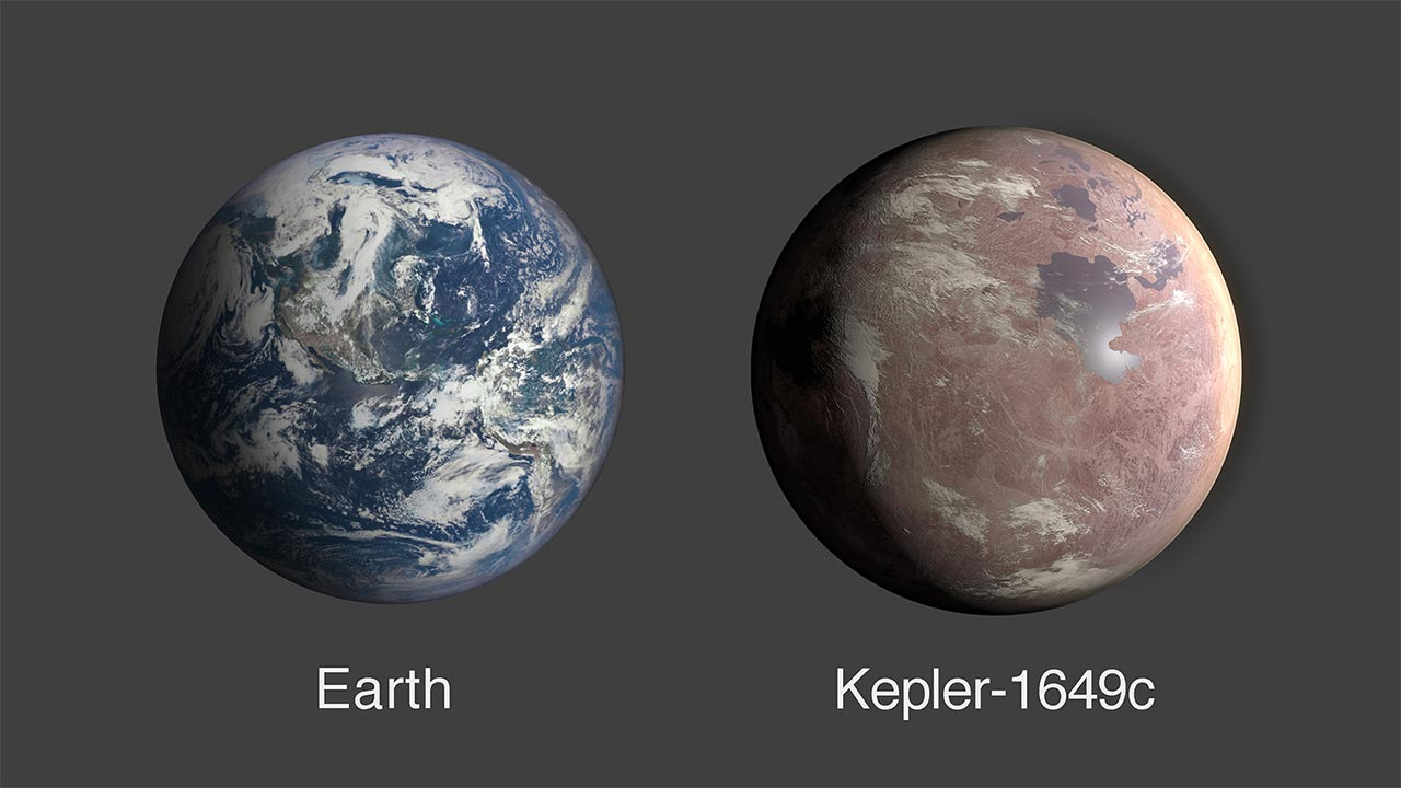Kepler-1649c, admittedly not a creative name, is just 1.06 times the size of the Earth. Image; NASA