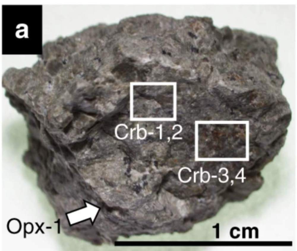 Researchers say that this rock is at the centre of the 'life on Mars' debate. Image credit: Nature communications