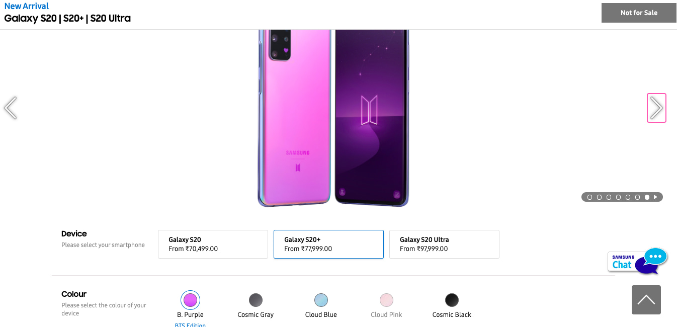 Samsung Galaxy S20 Plus Galaxy Buds Plus Bts Edition Now Available For Pre Booking In India Study Point