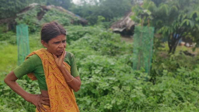 60-year-old Shevanti Savara, resident of Dharanhatti, says the adults in her family sleep empty stomach because there is not enough for everyone. Parth MN