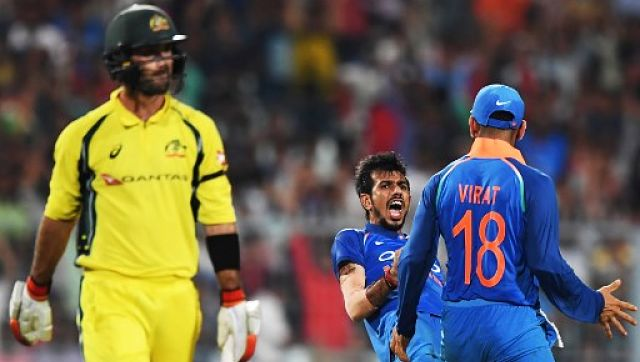 Yuzvendra Chahal dismissed Glenn Maxwell four times in ODIs, and his career-best figures of 6-42 came against Australia. AFP