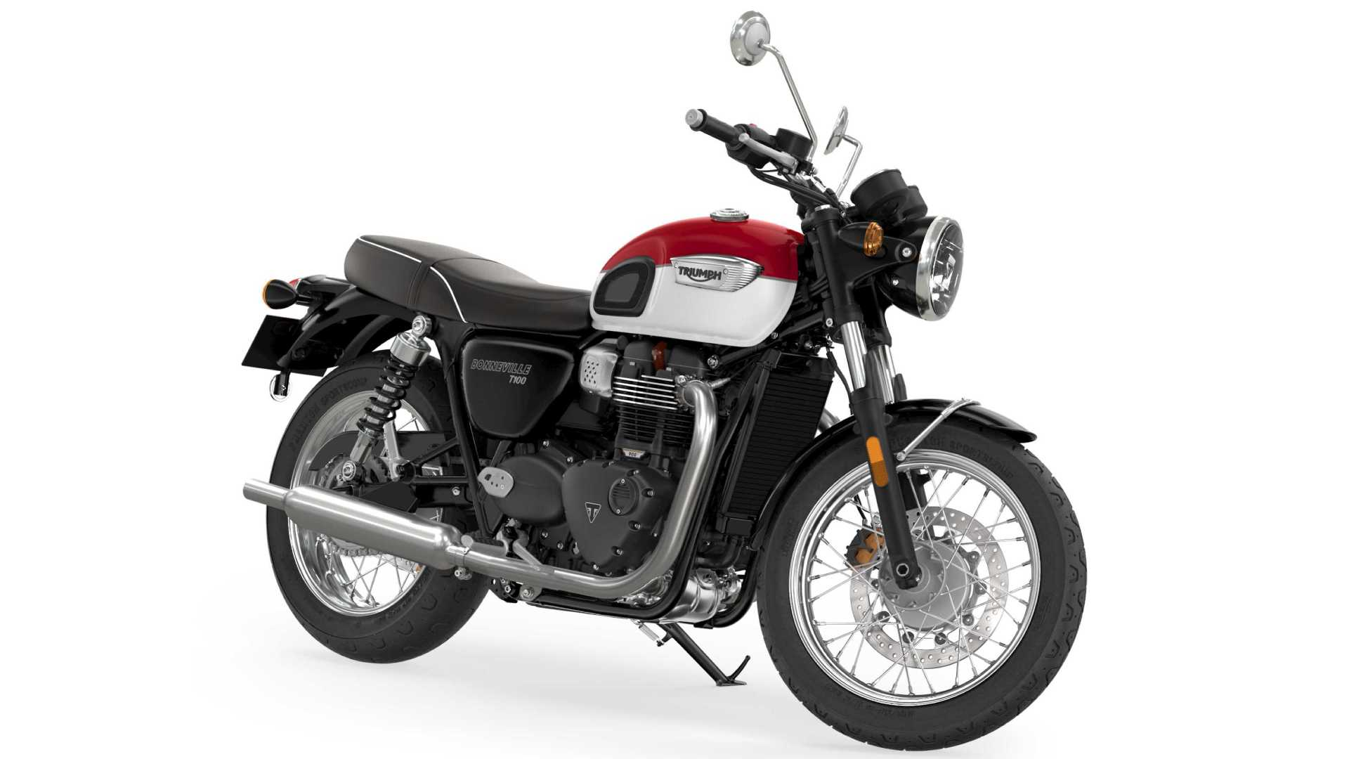 The 2021 Triumph Bonneville T100 benefits from a 10 hp rise in power output. Image: Triumph Motorcycles