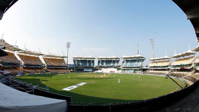 An aerial view of the Chepauk Stadium. Sportzpics