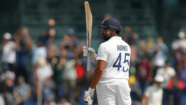 Rohit Sharma's massive knock ensured that India would end Day 1 with a sizeable total. SportzPics